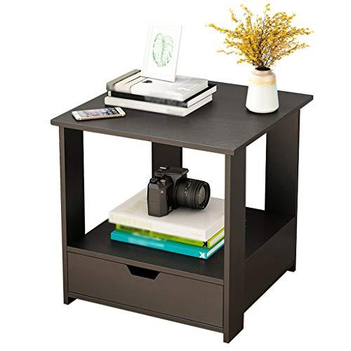 Bedside tafels Kleine Huishoudelijke Vergadering Ultra Smalle Mini Opbergdoos nachtkastje Locker Slaapkamer Studie Corridor Zwart 40X40X41cm FANJIANI