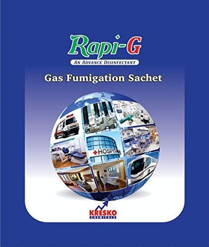 Rapi G Gas Fumigation Sachet   Disinfector, Sterilizer, Fumigator For Home, Office, Suitable For Upto 3500 cubic Feet Space, Disinfect Area From Viruses, Bacteria, Fungi -Certified (10)