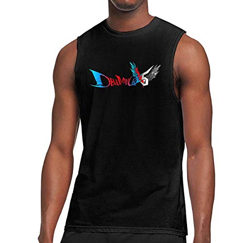 Nueva Camiseta sin Mangas Personalizada Devil May Cry 5 de Moda para Hombre Negro