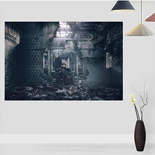 MXIBUN Sherlock Holmes Poster Pinturas para Sala de Estar Arte de la Pared Pintura de la Lona Decoración Cartel para niños Regalo sin Marco 50 * 75 cm 2