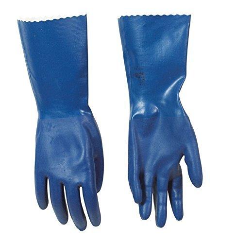 Spontex Neoprene Gloves Blue Neoprene Coating, Cotton Knit Lining Medium Boxed