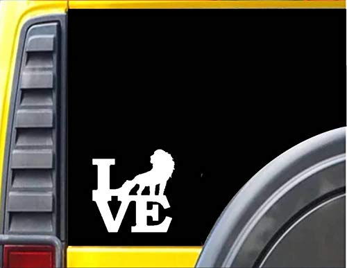 DKISEE Sticker Leeuw Liefde Raam Sticker Laptop Vinyl Decal Venster Muursticker Auto Sticker 6 inch Onecolor