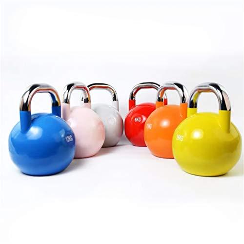 lINOC Kettlebell Hanteln 4KG-32KG für Fitness Kurzhanteln für Gymnastik Aerobic Pilates Heim-Fitnessstudio [1 Stck],4KG