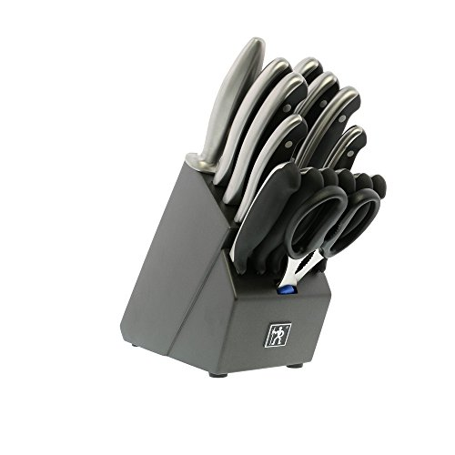 HENCKELS Forged Synergy East Meets West Knife Block Set, 16 Piece, Black