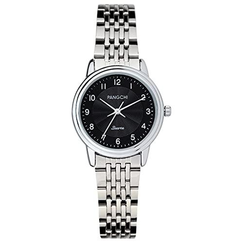Reloj de Ladies de Pulsera pequeña, dial de números árabes Simple y atmosférico, Reloj básico Que a Las Chicas Les Gusta, diseño silencioso (Color : B1)