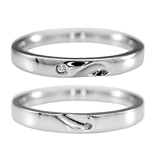 [ココカル]cococaru K10ゴールド ペアリング 2本セット 結婚指輪 マリッジリング ダイヤモンド 日本製(レディースサイズ9号 メンズサイズ14号)