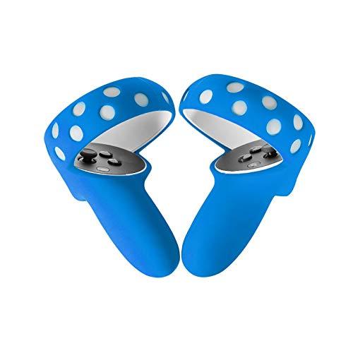 QOTSTEOS 1 par de cubierta de agarre para controlador de realidad virtual a prueba de polvo, mango de silicona suave para controlador Oculus Quest 2