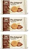 3x Galbusera Più Integrali Kekse Vollkornkekse reich an Fasern 330g (6 snack)