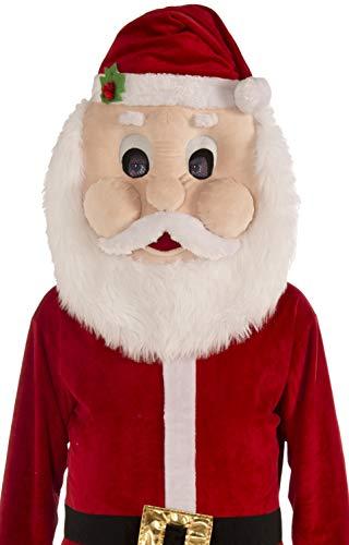 Dress Up America Volwassenen mannen pluche Kerstman Mascotte Kostuum
