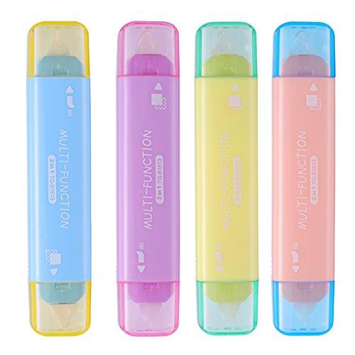 NUOLUX 4 cintas adhesivas de doble cara dispensadoras de cinta adhesiva permanente, cinta correctora para estudiantes, trabajos de bricolaje