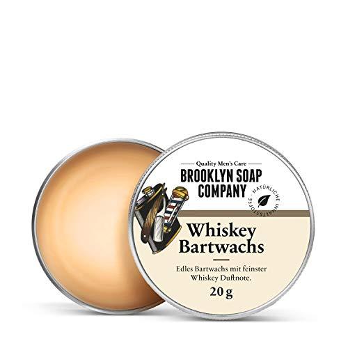 Whiskey Bartwachs · Brooklyn Soap Company · Natürliches Stylingwachs mit edler Whiskey Duftnote, für Bartstyling von 3-Tage-Bart bis Vollbart · starker Halt, leichter Glanz