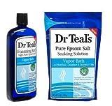 Dr Teal's remojo solución y baño de vapor espumante con mentol, alcanfor y aceites esenciales set de regalo