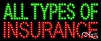 11 x 27 x 1インチ 全種類の保険 アニメ 点滅 LED ウィンドウサイン