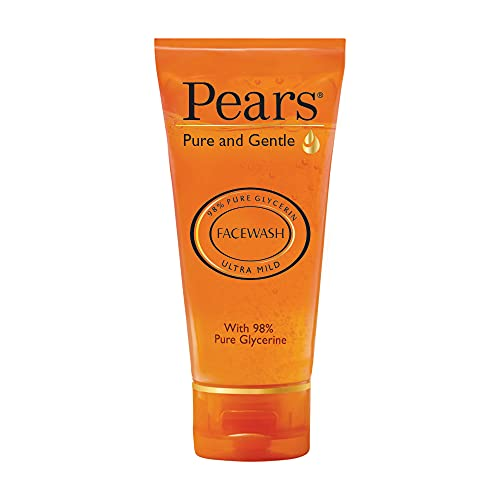 Pears Pure and Gentle Daily Cleansing Facewash, Mild Cleanser With Glycerine, Balances Ph, 100% Soap Free, 60 g