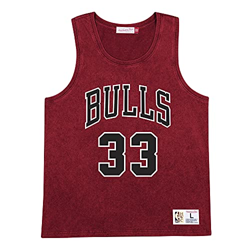 Mitchell & Ness Camiseta de tirantes Acid Wash de la NBA., Chicago Bulls., XXL