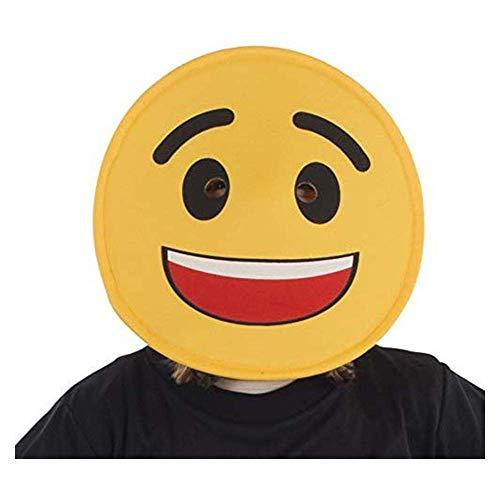 Dress Up America Unisex Smiling Face Emoji Mask For Kids Kostüme, Mehrfarbig (Multi), Einzigartige Größe
