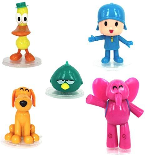 HYHSM Dibujos Animados Pocoyo Zinkia PVC Doll Figuras de acción Juguete para niños Regalo de cumpleaños 5 Piezas / Bolsa pequeña P Youyou Doll
