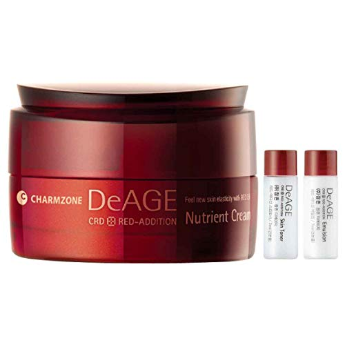 Charmzone DeAge Red-Addition Nutrient Cream 50ml, Feel New Skin Elasticity with Red Energy Passing Deep Into Your Skin!