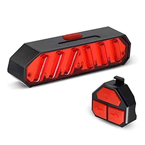 LKNJLL Luz de la cola de bicicleta con señales de giro Control remoto inalámbrico - Luz de bicicleta roja - Luces de bicicleta recargables USB - Luces de bicicleta para la conducción nocturna - Bicicl
