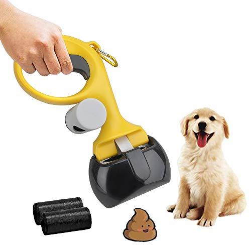 TANGN Recogedor de Caca para Perros, Portátil Recogedor para Excrementos de Perros Pooper Scooper con Bolsas de Basura Poop Scoop para Recoger Residuo de Animales para Gato y Perro al Aire Libre