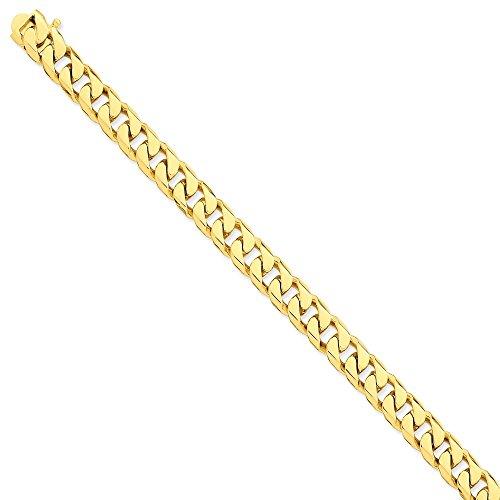 Collar de cadena de oro amarillo de 14 quilates, langosta de 22 pulgadas para hombres y mujeres