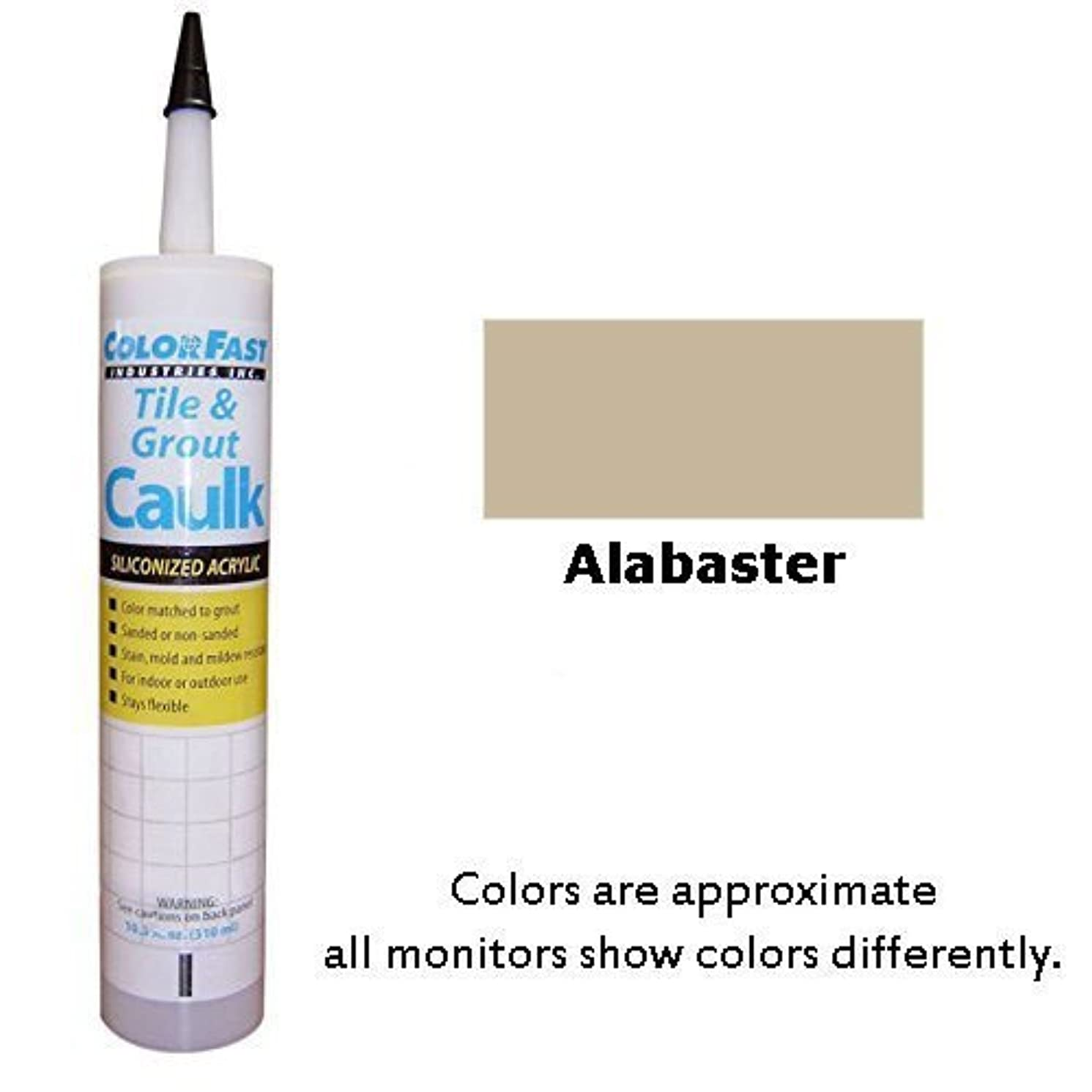 Color Fast Colored Caulk to Match Hydroment Unsanded – 20 Colors Available (Alabaster)