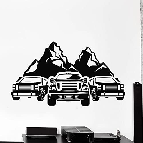 HGFDHG Aventura Pared calcomanía Coche Rover montaña Vida Silvestre Viaje Arte Papel Tapiz Vinilo Ventana Pegatina Mural Hombre Cueva Garaje decoración
