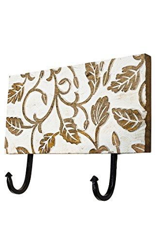 Perchero vintage Avivit de 26 cm, con 2 ganchos, para la pared o la puerta, perchero de metal, para toallas en el baño o la cocina