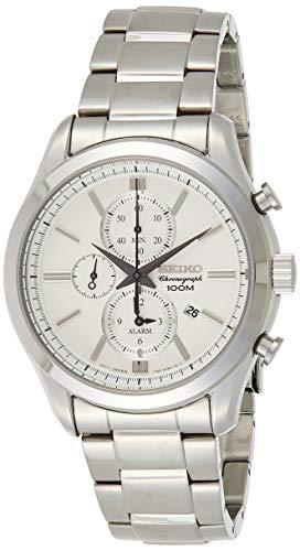 Seiko Herren Chronograph Quarz Uhr mit Edelstahl Armband SNAF63P1