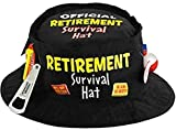 Amscan 396536 Funny Black Fabric Official Retirement Survival Hat, 11.5 x 11.5'