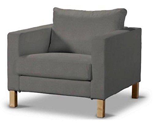 Sofa Renewal Durable Dense Cotton Karlstad Stuhl-Abdeckung Ersatz ist nach Maß für IKEA Karlstad Sessel Sofa Slipcover Dunkelgrau