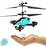 Future - Drone RC per bambini, quadricottero con sensore di controllo (blu), facile da controllare tramite movimento manuale, telecomando a infrarossi, elicottero quadricottero