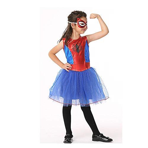 WYY-MY Disfraz de araña Infantil de Halloween Niñas Cosplay Disfraces de Anime Jugar Disfraz de araña
