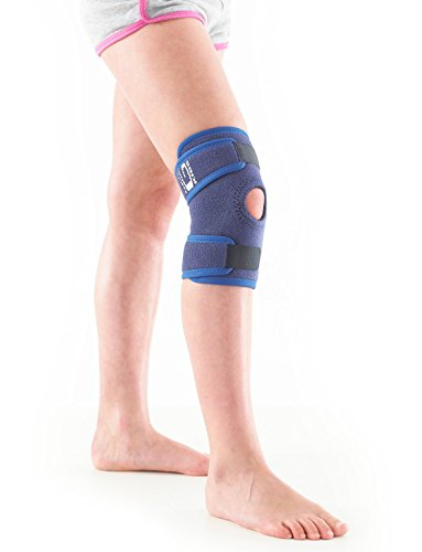 Neo G Knee Brace for Kids, Open Patella - Brace for Juvenile Arthritis Relief, Joint Pain, Meniscus Pain, Sports, Basketball, Running - Adjustable Compression - Class 1 Medical Device - 1 Size - Blue