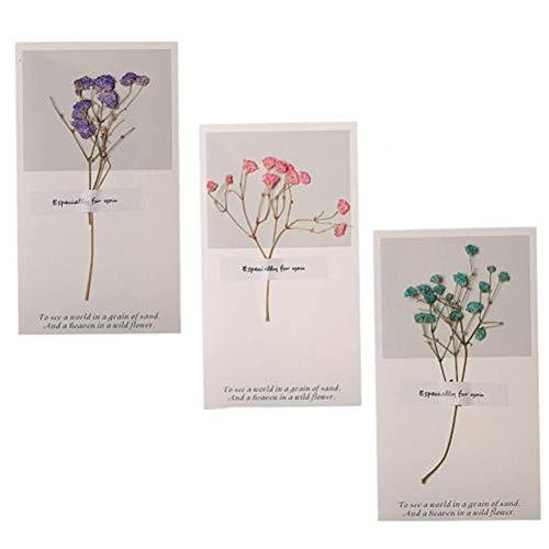 ppactvo Tarjeta de felicitación Flor Tarjeta Gracias Impresión de Tarjetas Cherry Blossom Tarjeta Tarjetas de felicitación con sobre