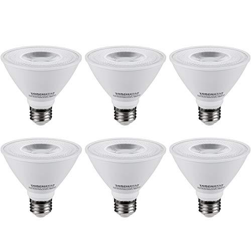TORCHSTAR CRI90+ PAR30 Short Neck Dimmable LED Spot Light Bulb, 12W 75W Equiv, 3000K Warm White, 840Lm, E26 Medium Screw Base, Energy Star & UL Listed, Pack of 6
