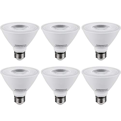TORCHSTAR PAR30 Short Neck LED Spot Light Bulb, Dimmable, 12W 75W Equiv, High CRI90+, 3000K Warm White, 840Lm, E26 Medium Screw Base, Energy Star & UL Listed, 3 Years Warranty, Pack of 6