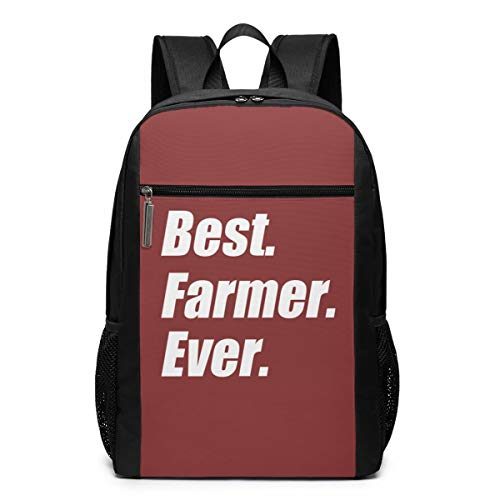 Best Farmer Ever Laptop Computer Backpack Business Stylish Casual Travel Bags 17 Inch