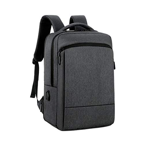Computer Rucksack the Back Can Be Expanded and Thickened for Laptop Backpack for Women Men with USB Charging Water Resistant 15.6 Inch Carrying Bag Breathable Padded Shoulder Strap,Black,15.6 inch