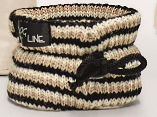 Dog Line Hundeschal Strickschal für Hunde Schal Italien Scaldacollo Lana (S Halsumfang bis 30cm, beige)