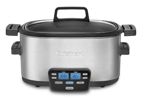Cuisinart 3-In-1 Cook Central Multi-Cooker: Slow Cooker, Brown/Saute, Steamer