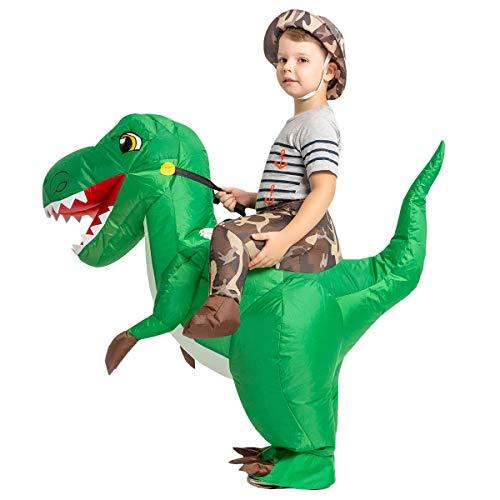 GOOSH Dinosaur Inflatable Costume for Kids,Blow Up Halloween Costume Kids,trex Inflatable Costume...