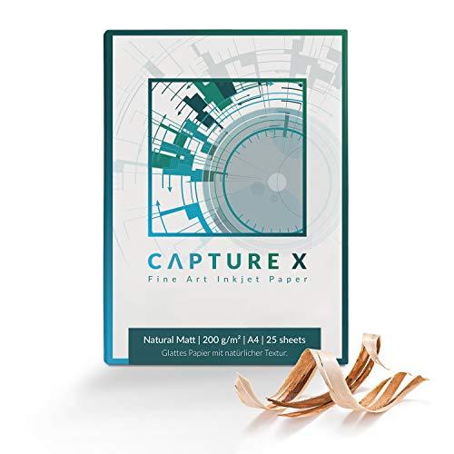 CAPTURE X Natural Matt, 200g/m², A4, 25 Blatt Box - natürliche Struktur - Fine Art Paper