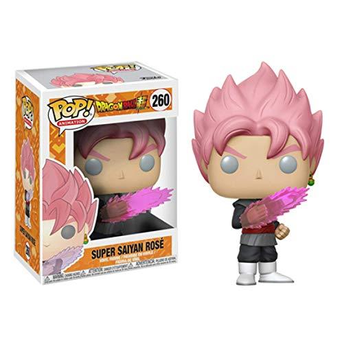 Yzoncd Pop Dragon Ball Z Figurine 10 Cm Super Saiyan Pose Goku Rose 260 # Poupée d'action À Collectionner Modèle Jouets pour Chlidren Cadeau d'anniversaire