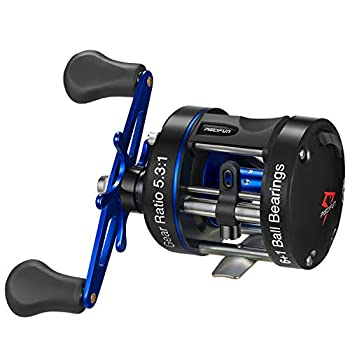 Piscifun Chaos XS Baitcasting Reel Round Reel Reinforced Metal Body Conventional Reels for Catfish Musky Bass Pike Saltwater Inshore Surf Fishing Reels  40 Right Handed