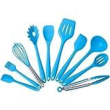 MLYWD Utensilios de Cocina EspáTula de Silicona de Grado Alimenticio Juego de Utensilios de Cocina para Cocinar EspáTula...