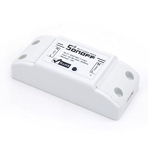 Komforthaus Sonoff Basic - Interrupteur, relais WIFI, compatible Amazon Alexa, Google Home, Nest, IFTTT…