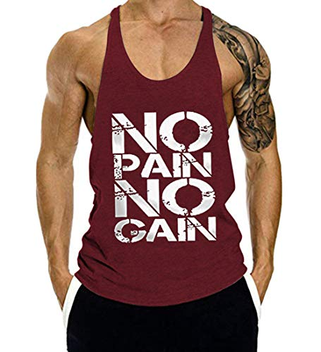 COWBI Chaleco para Hombres Impresión Deportivo Camiseta Sin Mangas de Tirante Sudadera Gimnasio Músculo Formación Túnica Tank Top