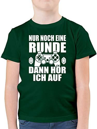 Sprüche Kind - Nur noch eine Runde - 164 (14/15 Jahre) - Tannengrün - kindertshirt sprüche - F130K - Kinder Tshirts und T-Shirt für Jungen