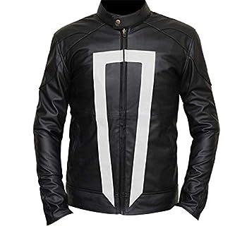 Ghost Rider Agents of Shield Robbie Reyes Leather Jacket  XXL  Black